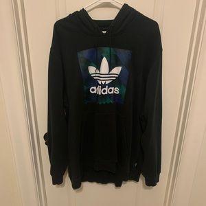 Men's adidas black trefoil hoodie